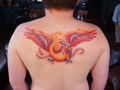 Made more into a chakra on his back, rather than a literal flag.