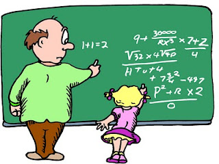 A teacher teaching a student math, the student is gifted and doing high level math problems, which surprises the teacher.