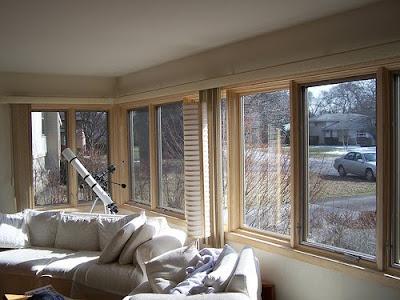 Redesigned Living Room Interior, Pella Casement Windows (Interior) -Redesigned Living Room - Glenview