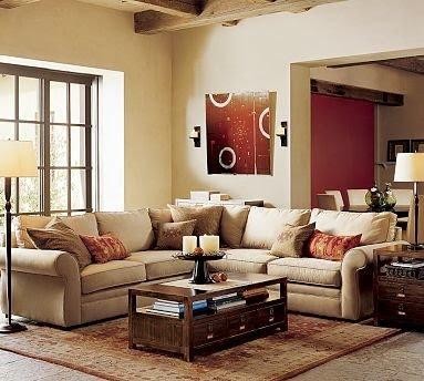 living room pottery barn