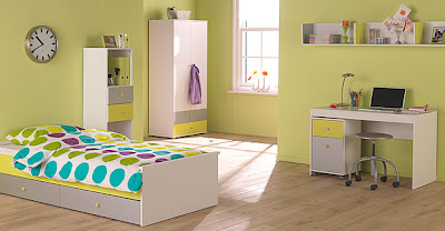 florian kids bedroom lime silver