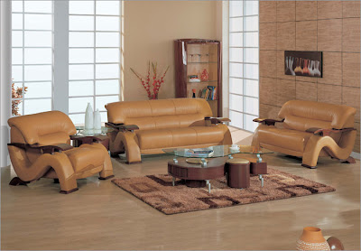 Global Furniture USA Sherman 3 pc Leather Living Room Set