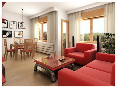 red-sofa-sets