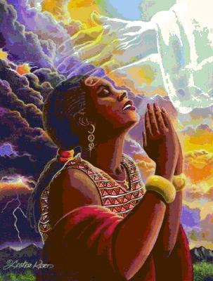 Black Woman Praying Art | Fine Art America