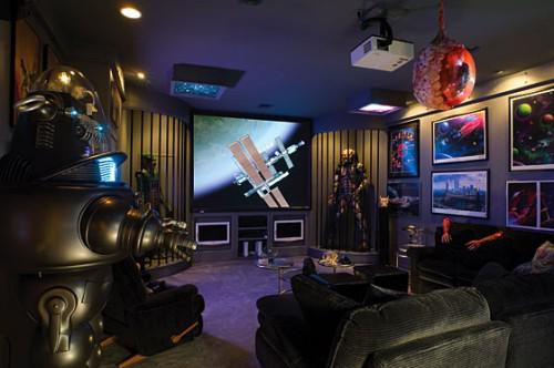 Home theatre design stunning ultra geeky home theatre designs for Sci fi home decor