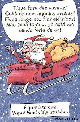 Charge com o Papai Noel do Site Piadas.com