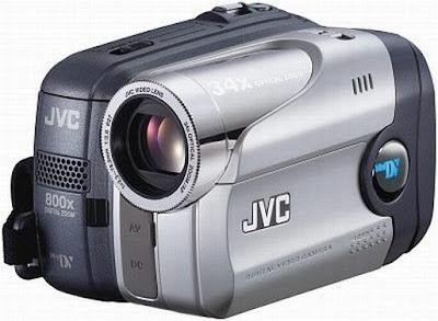 Câmera filmadora digital JVC GR-DA20 Vista Frontal