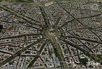 Perspectiva topográfica feita a partir de foto de satélite de Paris
