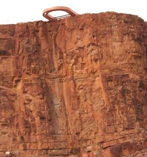 Foto feita por helicóptero 200 metros abaixo da plataforma.