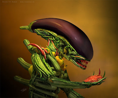Modelagem gráfica de um Alien a partir de legumes