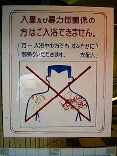 Cartaz proíbe a entrada de homens tatuados