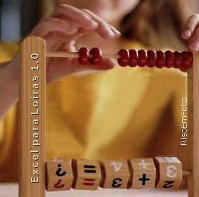 Ábaco infantil simula Excel para Loiras.