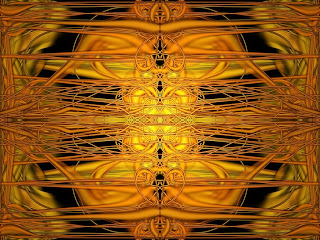 Mandala dourada para acordar seus pensamentos sobre os bens materiais.