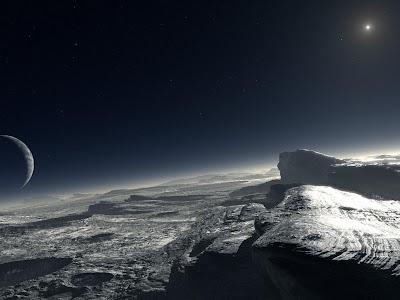 Representação do Planeta Plutão feita pela Nasa
