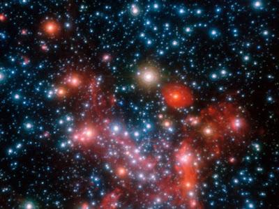 Imagem da parte central da Via Láctea
