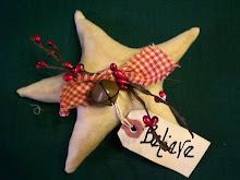 """Believe"" Star ornies, red"