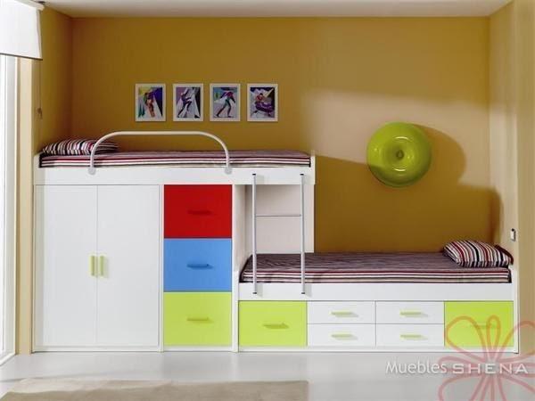 El cuaderno del decorador dormitorios infantiles literas - Camas tipo tren ...
