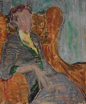Painting: Virginia Woolf by Vanessa Bell, 1912