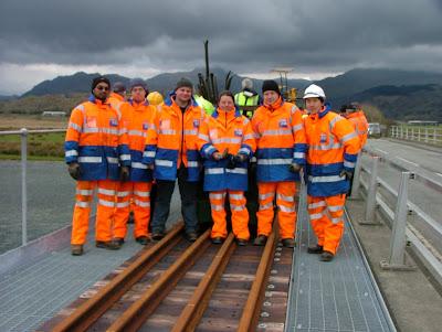The GrantRail gang at Pont Croesor.