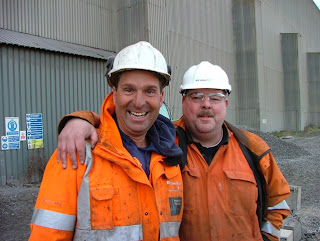 John Pike (left) and Wayne Moorhouse at Scunthorpe