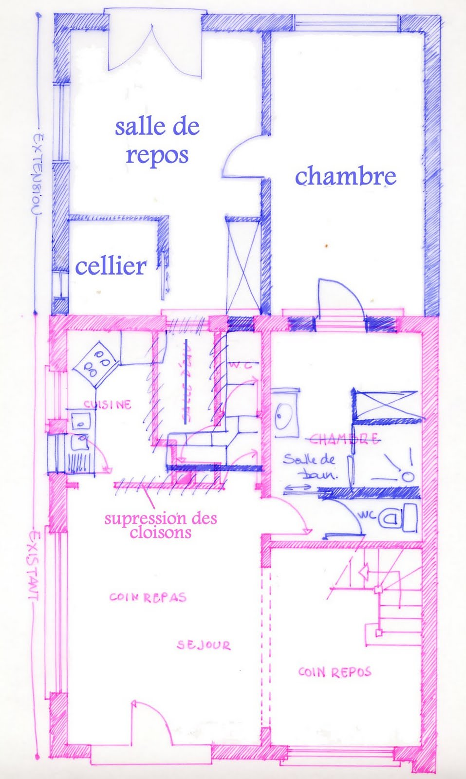 Plan maison 100m2 habitable for Plan de maison plain pied 100m2