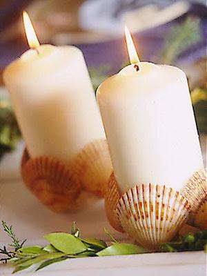 декорирана свещ с миди