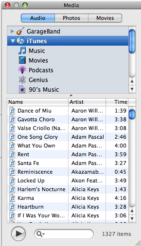 how to add music to keynote for the whole slideshow
