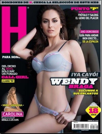 EL KIOSCO: WENDY BRAGA SEXY LENCERIA REVISTA H