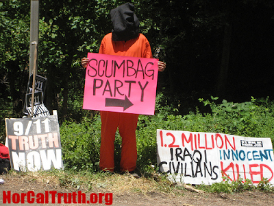 2009 Bohemian Grove Gets Underway Amidst Protests 3