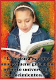 """La lectura es como una pequea guia a un infinito universo de conocimiento..."""