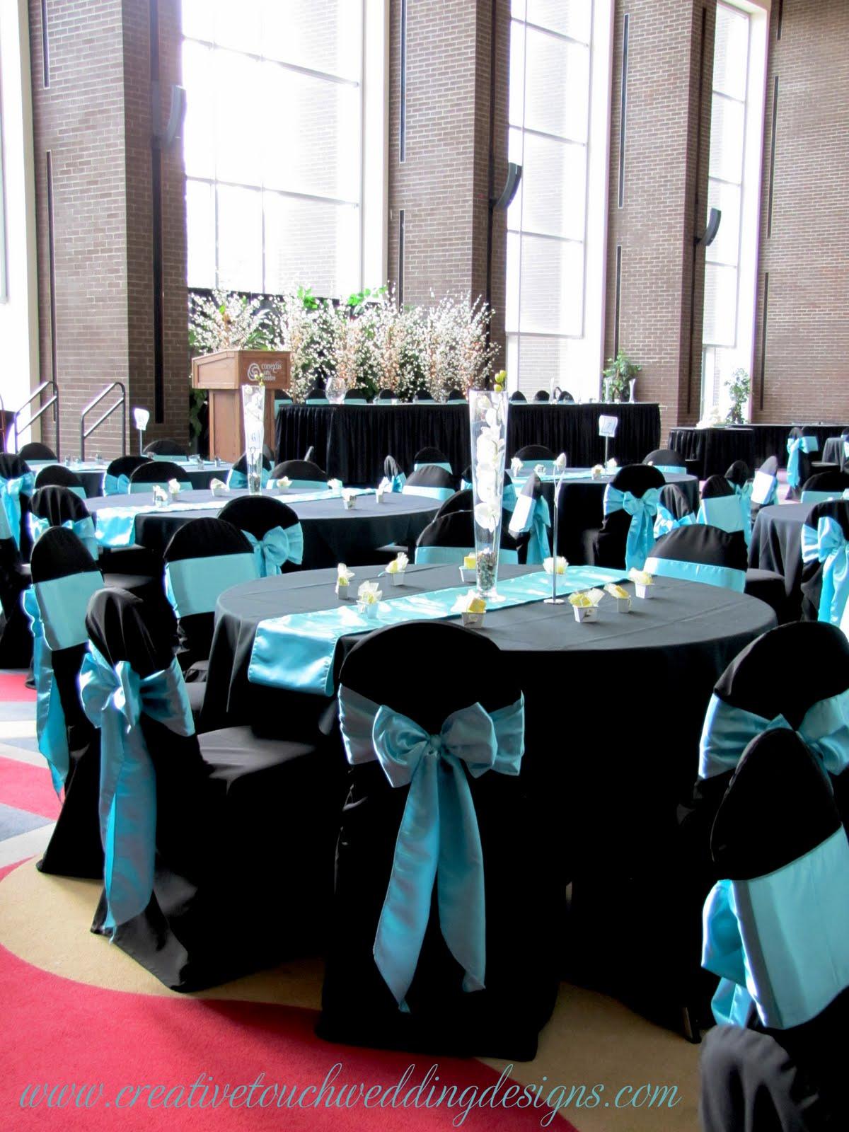 Creative Touch Wedding Designs: Conexus Theatre Lobby-Aqua ...
