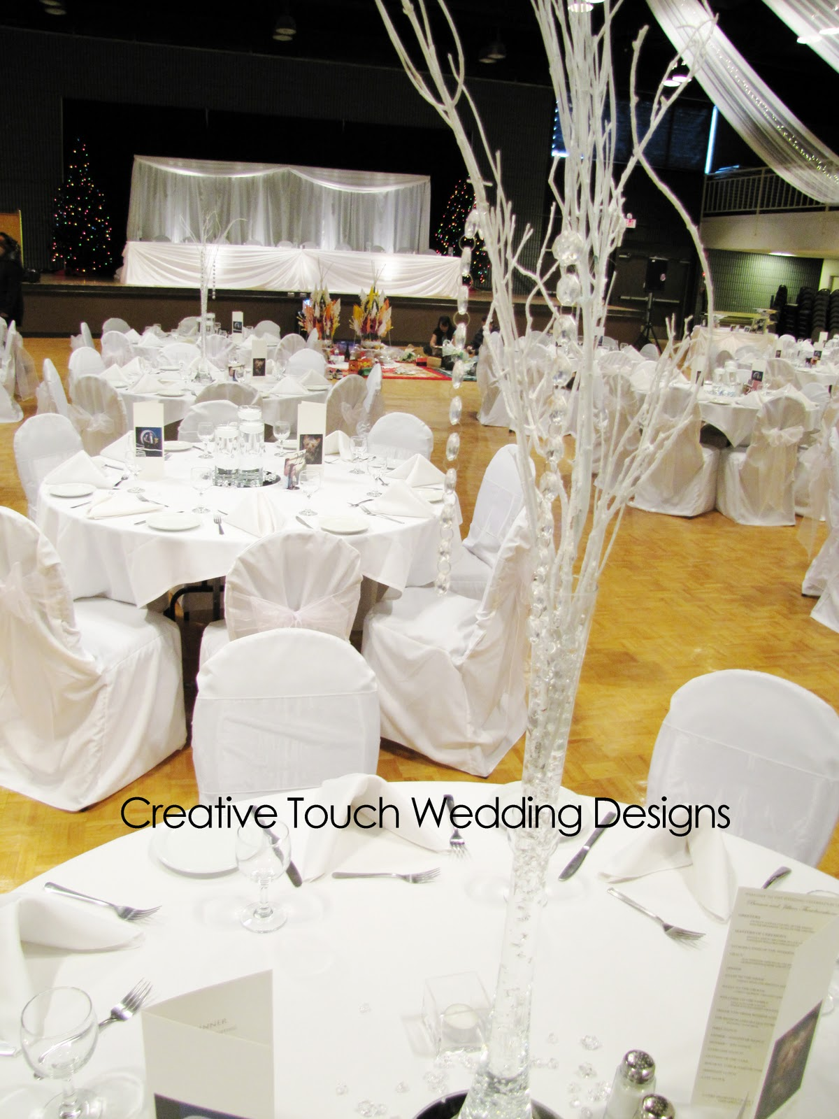 Creative Touch Wedding Designs: Turvey Centre - Dec 2010 - Winter ...