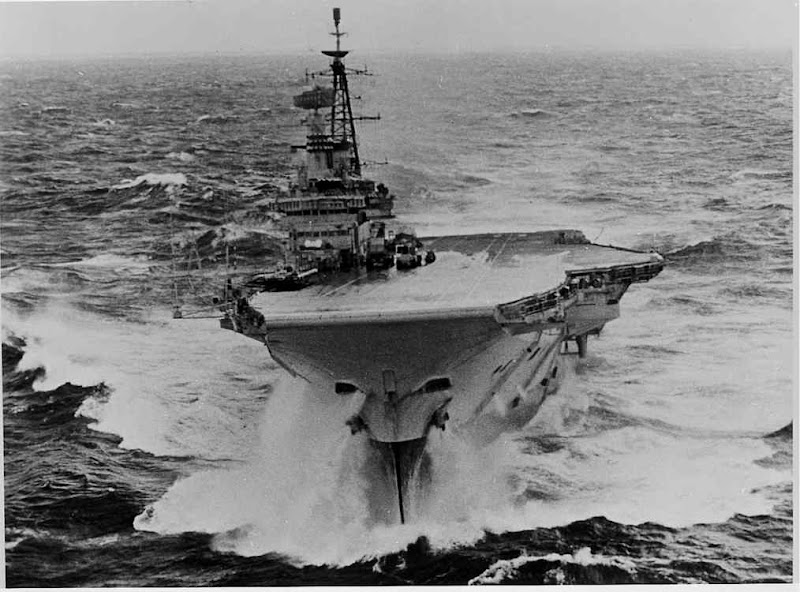 The Australian Aircraft Carrier Hmas Melbourne Carries Out Rescue Operations In Sea Off New South