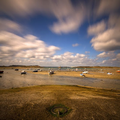 l'île grande à marée basse, cote de granit