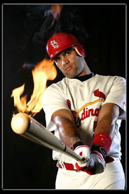 Pujols on Fire