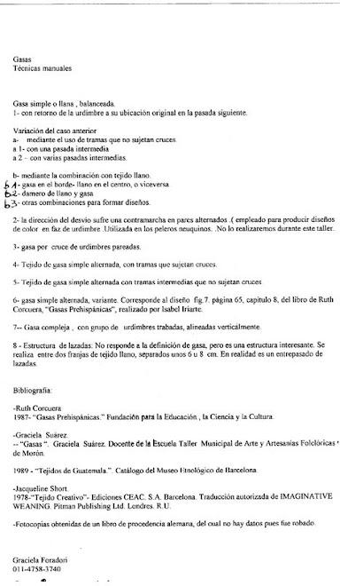 Seminario : Gasas Prehispánicas