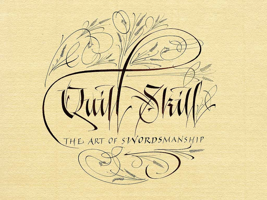 English Calligraphy Art Calligraphy by denis brown,
