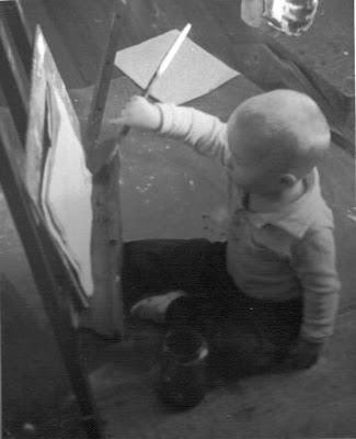 Karl Marxhausen painting as a little boy in Seward, Nebraska. The photo was taken from http://karl.marxhausen.net/bio.html