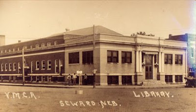 Seward Library and YMCA in 1915. Image taken from http://www.sewardlibrary.org/about/history.html