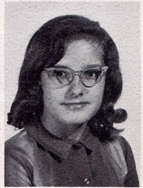 Cheryl Stelmachowicz pictured as a member of the seventh grade in the 1965-1966 yearbook of St John Elementary School in Seward, Nebraska