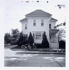 House at 276 Faculty Lane in Seward Nebraska, in 1964. The image was scanned from a photograph that belongs to Steve Sylwester.