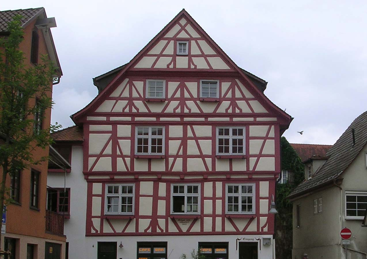 The tourist german old houses for German house builders