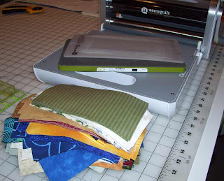 My Accuquilt Go cutter has been useful in slimming down my scrap pile.