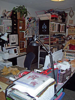 Sewing Studio still as I left it. I want to get to sewing again.