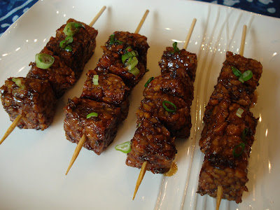 Grilled Tempeh Kabobs Asian Style Tempeh Kabobs
