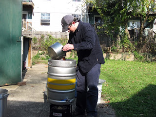 Tim Recircing the Wort