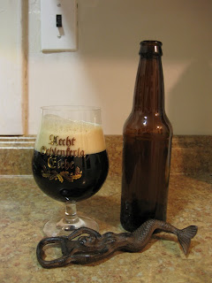 Appearances can be deceiving, it looks like an Irish stout, but it has a big fruit character and almost no roast.