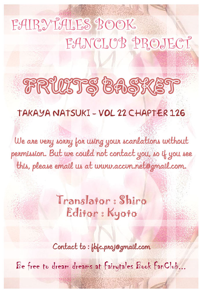 Fruits Basket chap 126 - Trang 1