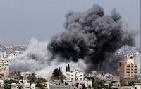 Gaza bombardée