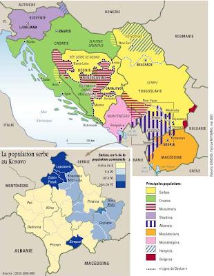 carte yougoslavie 1999